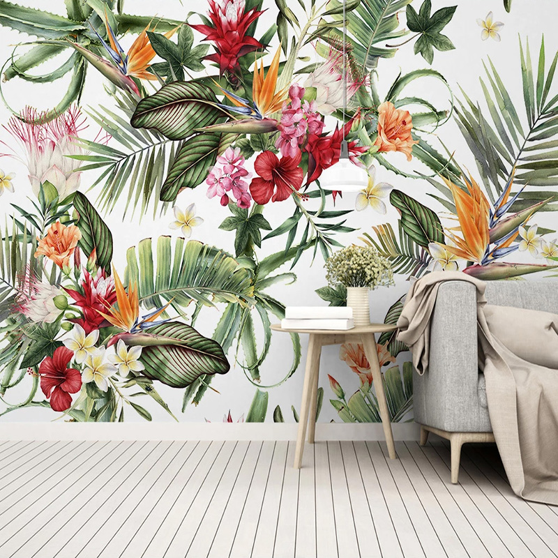 Custom 3D Wallpaper Modern Tropical Rain Forest Plant Leaf Cactus Photo Wall Murals Living Room Bedroom Creative Wall Painting
