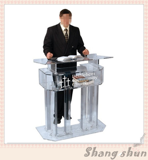 Acrylic Pulpit / Crystal Acrylic Church Lectern / Perspex Pulpit