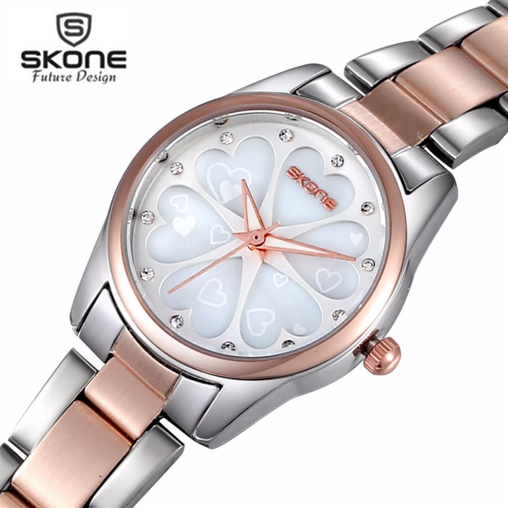 SKONE Women Watches Women Top Famous Brand Luxury Casual Quartz Watch Female Ladies Watches Women Wristwatches Relogio Feminino