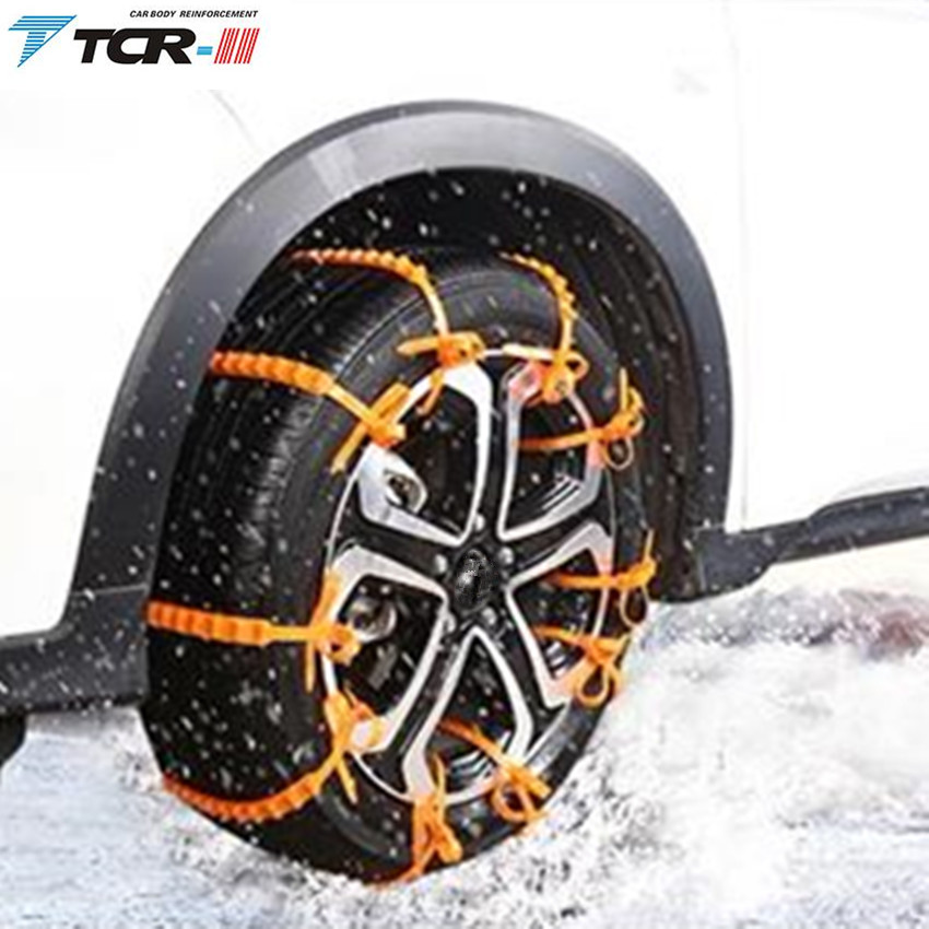 spikes car tires winter new 10 pcs snow tire chain for car truck suv anti skid emergency winter. Black Bedroom Furniture Sets. Home Design Ideas