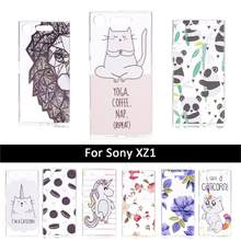 TPU Case For Sony Xperia XZ1 G8341 Cartoon Back Cover For Sony XZ1 XZ 1/XZ 1/G8341 Soft Silicone Mobile Phone Shells paint cases(China)
