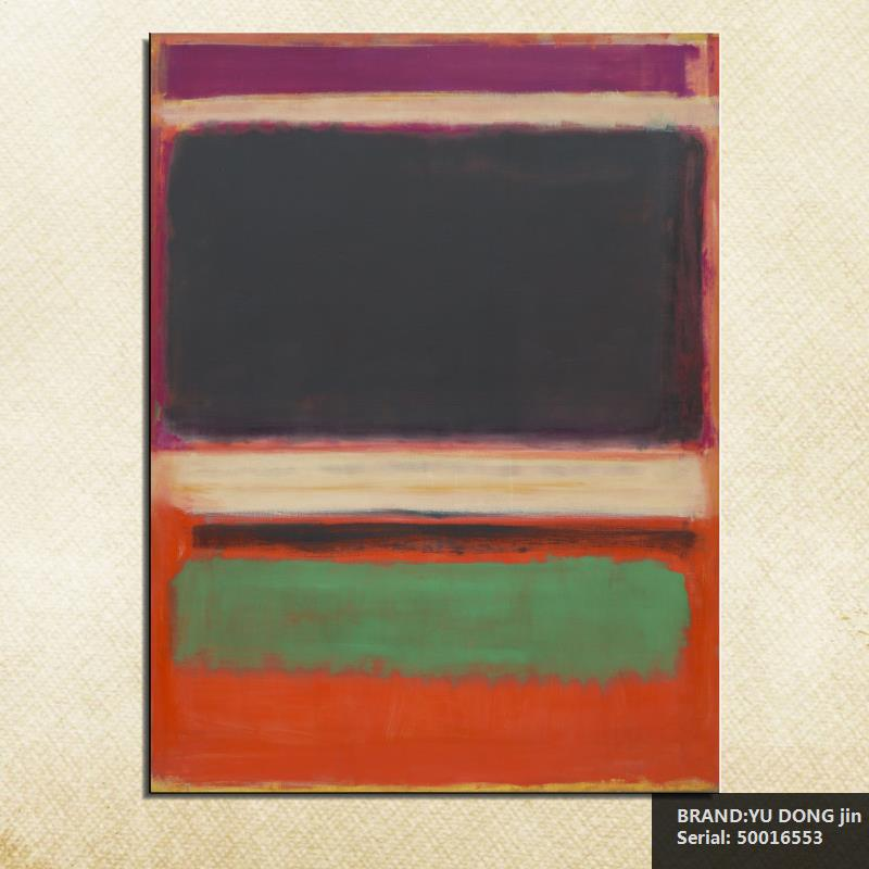 2019 Fashion Mark Rothko Still Life Classical Oil Painting Drawing Art Spray Unframed Canvas Iron Miniature Wine Children Figure50016553 Can Be Repeatedly Remolded. Painting & Calligraphy