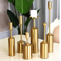 Europe Plated Metal Candlestick Mounting 6pcs