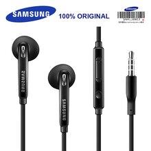 Samsung EO EG920BW fones de ouvido com fio preto/branco, com microfone 1.2m estéreo, esportivo, para samsung s9 s9plus com caixa de varejo