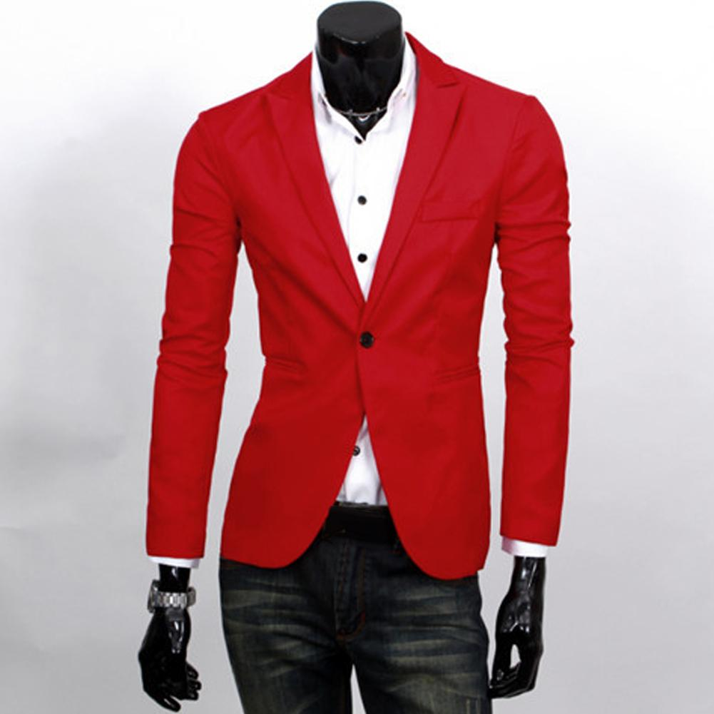 2019 New Fashion Men Slim Fit Solic Color Casual Suit Blazer Coat Jacket Outwear Top Free Shipping