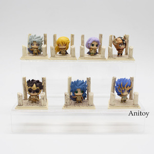 Image 3 - 7pcs/set Anime Saint Seiya Egg Box Q Version The Gold Zodiac PVC Action Figures Toys Dolls Anime SS004