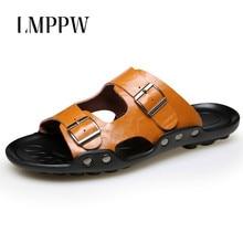 купить Fashion Men's Slippers Summer Beach Slippers Big Size 38-48 Men Sandals Non-slip Comfortable Casual Men Shoes Mens Flip Flops по цене 1322.56 рублей