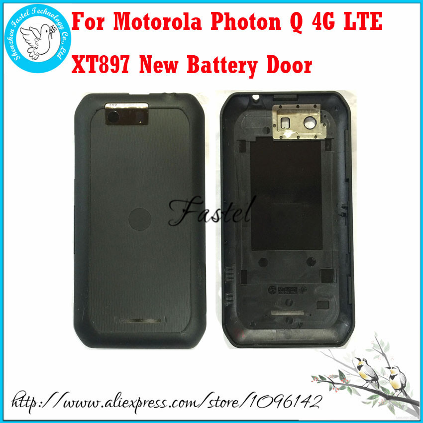 For Motorola Photon Q 4G LTE XT897 Brandnew original Black Mobile Phone Back battery door Housing Cover Case free shipping
