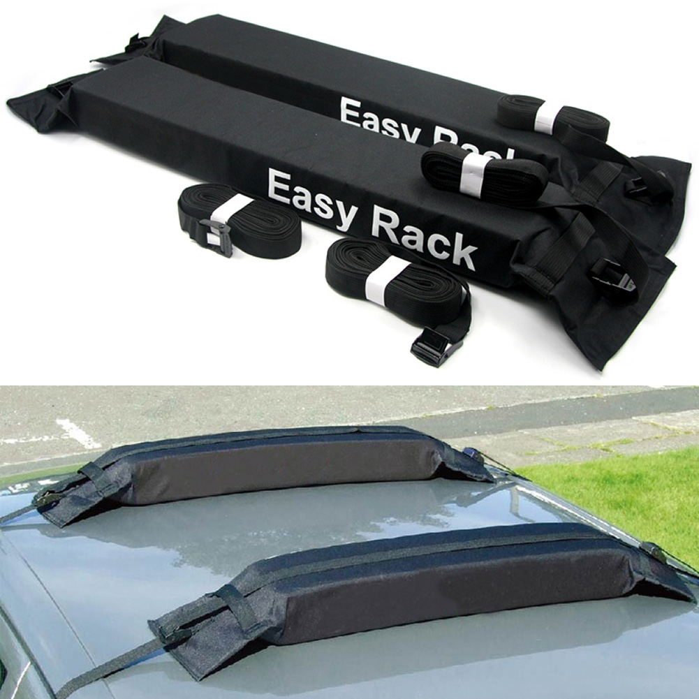 Universal Auto Soft Car Roof Rack Rooftop Luggage Carrier Load 60kg Baggage Easy Fit Removable