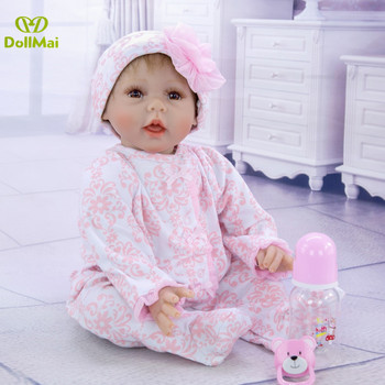 55cm Silicone Reborn Baby Doll Kids Playmate Gift for Girls bebe Alive Soft Toys for Bouquets boneca reborn