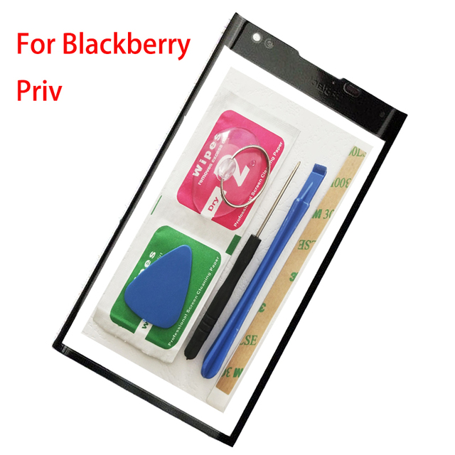 ZUCZUG New Front Outer For Blackberry Priv Front Glass Front Outer Panel 5.4 Inch+Repair Tools