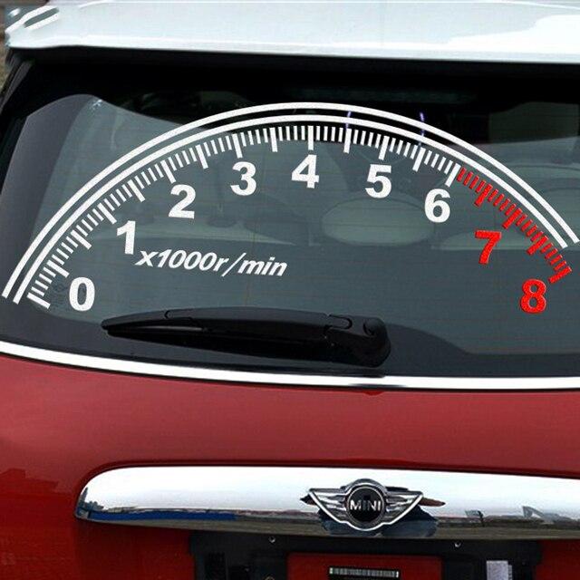 Fashion Reflective Speedometer Decoration Car Rear Window Decals - Window decals for trucks rear
