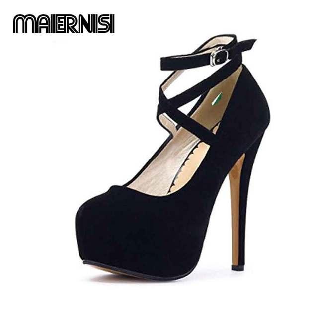 4a67650e9934 Original MENS14-1 Women s Ankle Strap Platform Pump Stiletto Party Dress  Heel wedding shoes high heels women shoes