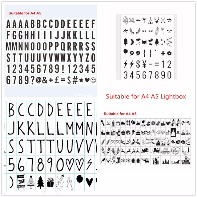 Aliexpress Buy Black Letters Symbols Glyphs Cards Numbers