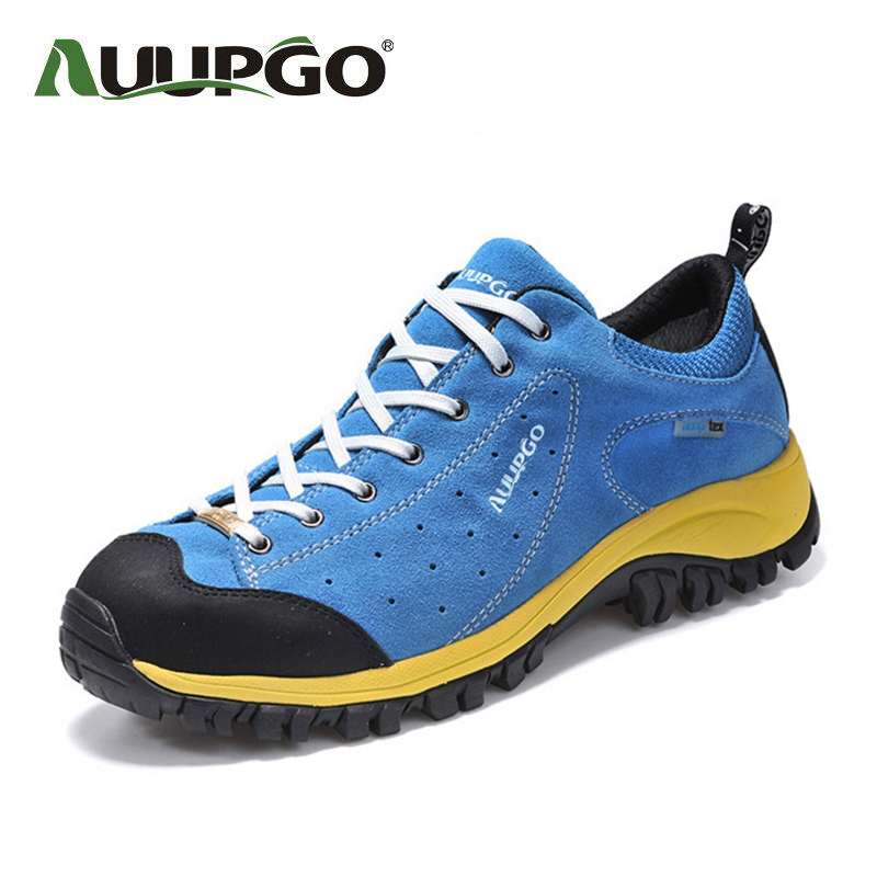Waterproof Women Hiking Shoes Men Outdoor Sneaker Comfortable Non Slip Genuine Leather Shoes B2593 клатч love moschino love moschino lo416bwypj95