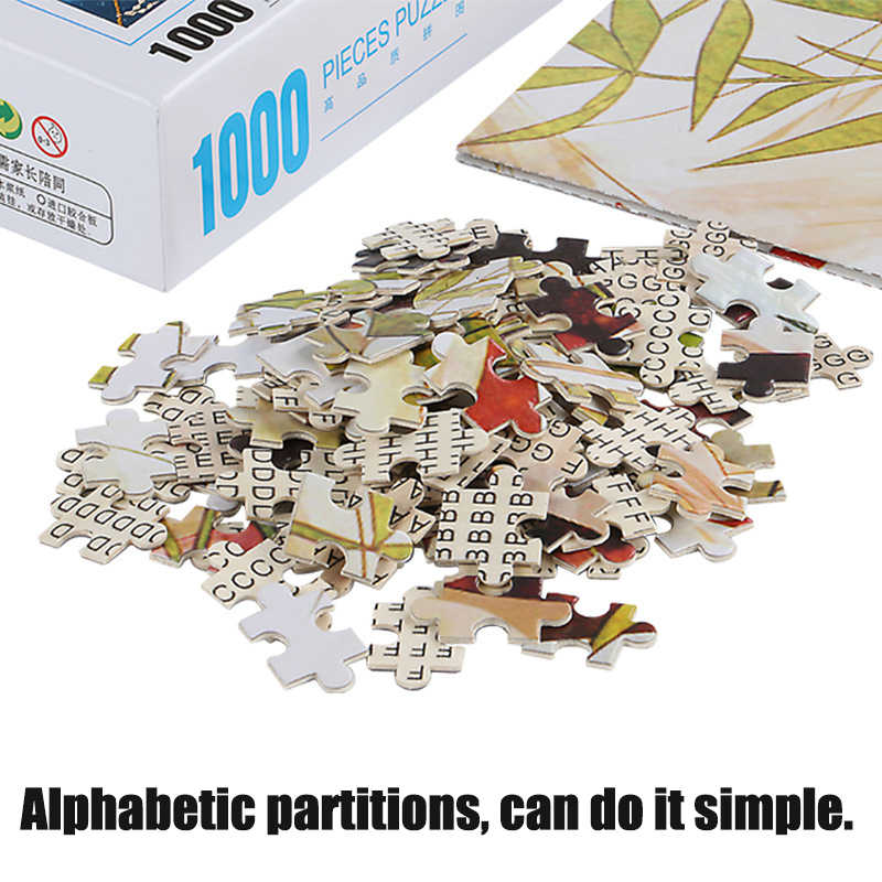 1d494784aa7b9 ... MOMEMO Romantic Town 1000 Pieces Puzzle 2mm Thick Adult Wooden Puzzle  1000 Pieces Jigsaw Puzzles Children ...