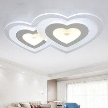 Schlafzimmer Licht Moderne Led Deckenleuchte Wohnzimmer Lampe Warm Und Romantischen Heiratszimmer Herz ZA92053