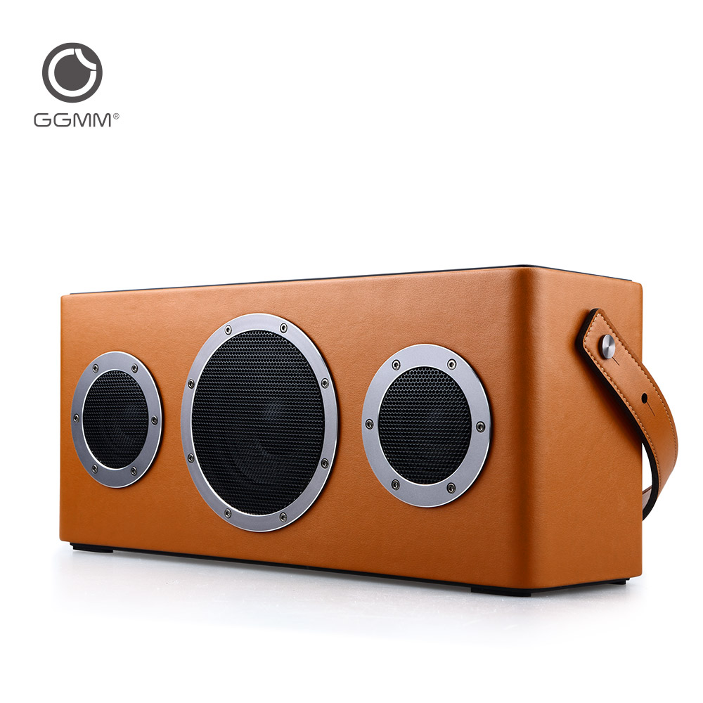 GGMM M4 Portable Speaker Bluetooth Receiver Audio WiFi Wireless Stereo Sound System Computer Speakers Subwoofer with Fivestar