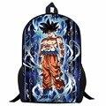 17 дюймов Аниме Жемчуг дракона супер рюкзаки для мальчиков-подростков крутой Saiyan Sun Goku Вегета печать детская школьная сумка рюкзак