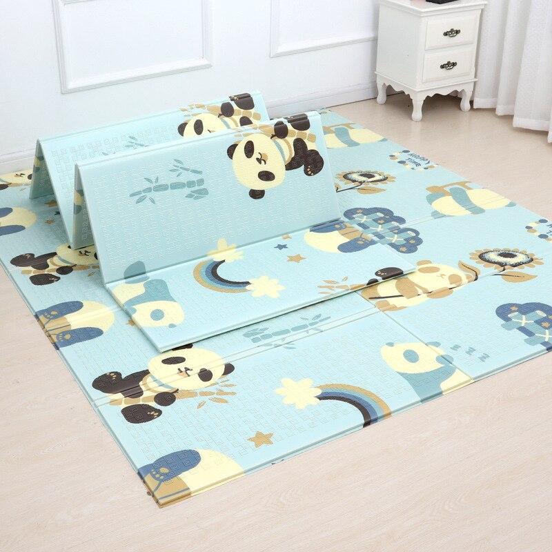 Tapis de jeu brillant pour bébé tapis de jeu pour enfants tapis de jeu pour bébé 200*180*1 cm mousse XPE Puzzle tapis de jeu pour bébés tapis souple éducatif - 2