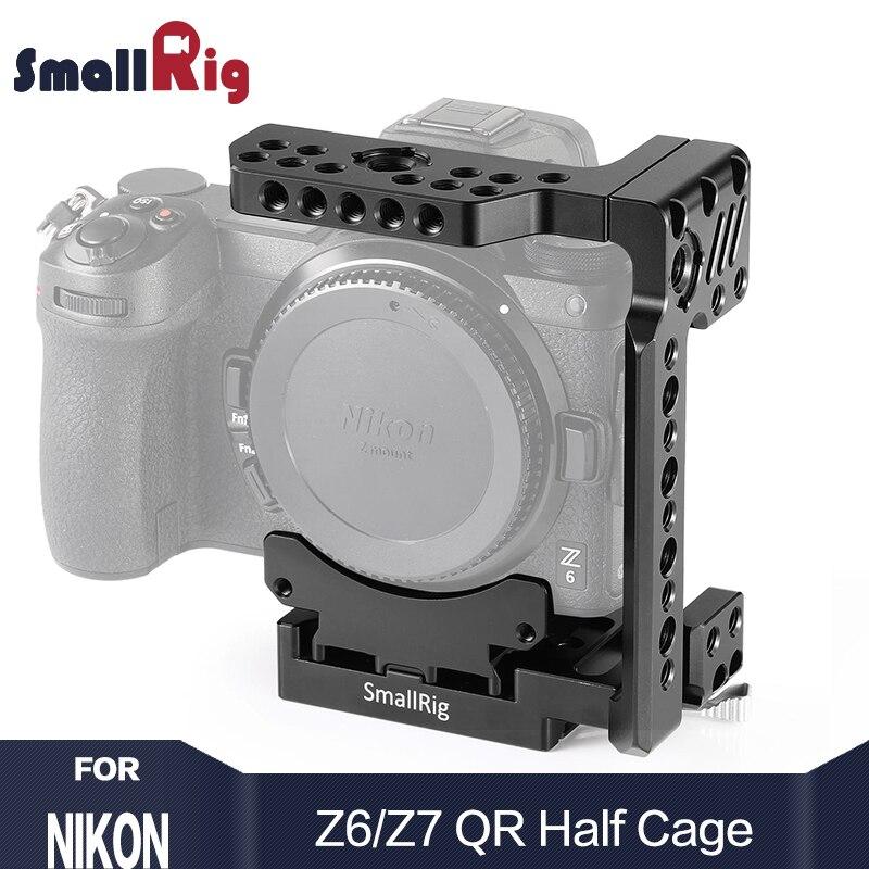 SmallRig Z7 Meia Gaiola Gaiola Câmera de Liberação Rápida para Nikon Câmera Z6 e Nikon Z7 Com Manfrotto Prato de liberação rápida 2262
