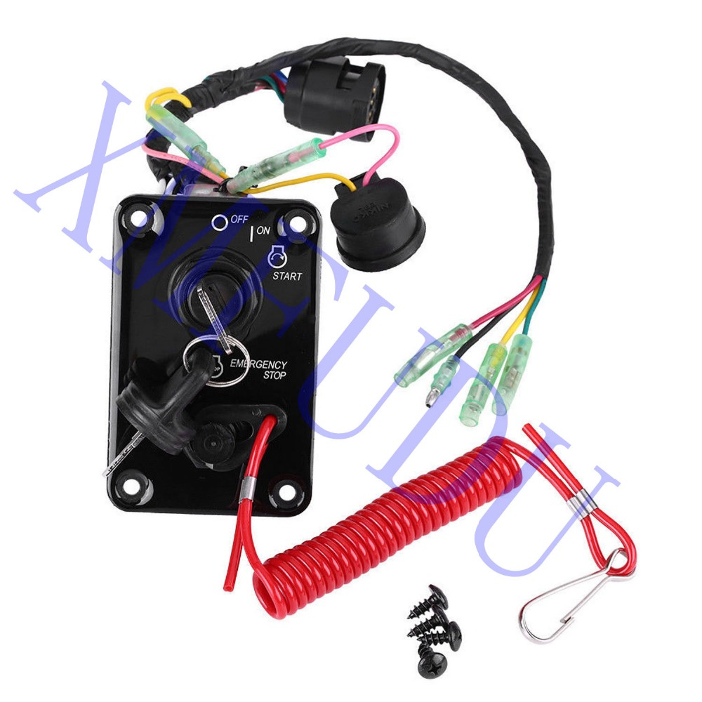 12V Outboard Single Engine Key Switch Panel Assembly For Yamaha Outboard Yacht 704-82570-12-00 704-82570-11-00 704-82570-08-00