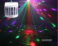 LED Laser flash disco double butterfly light Mini derby Club Party led effect DMX512 Stage Lamp DJ Equipments KTV disco lights