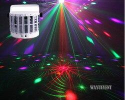LED Laser flash disco podwójny motyl światła Mini derby Club Party efekt led DMX512 lampa sceniczna sprzęt DJ KTV disco światła