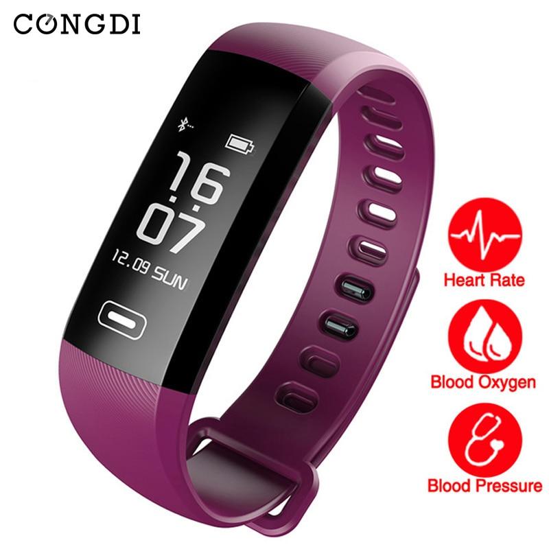 Originale R5 MAX Intelligente Wristband Frequenza Cardiaca Sangue/Sangue/Sangue Pressione Sangue/Sangue/Sangue di Ossigeno Tracker 50 Lettera messaggio push Braccialetto Intelligente per tezer