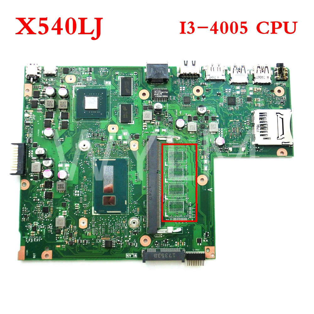 X540LJ Without memory With I3-4005 CPU mainboard REV2.1 For ASUS X540L X540LJ laptop motherboard Tested Working free shipping X540LJ Without memory With I3-4005 CPU mainboard REV2.1 For ASUS X540L X540LJ laptop motherboard Tested Working free shipping