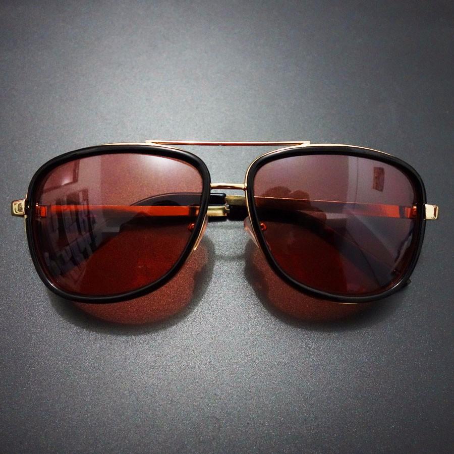 55f0d62e45 Tony Stark Iron Man Sunglasses Men Eyewear Mirror Punk Sun Glasses ...