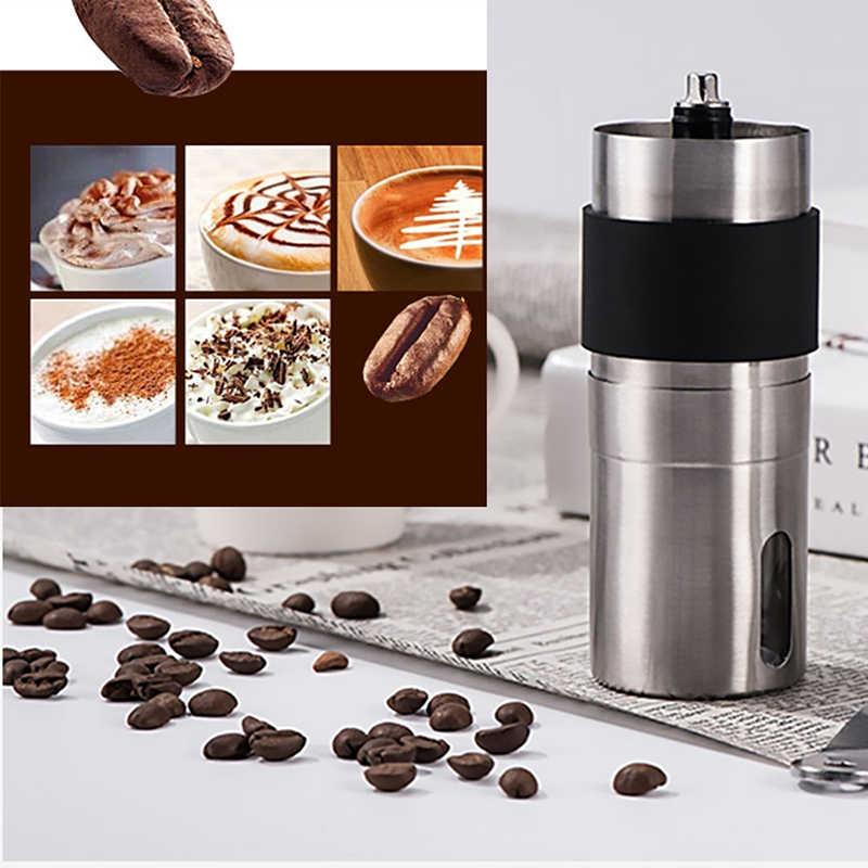 Мини Серебряный кофемолка из нержавеющей стали ручной работы кофейные зерна кофейные мельницы мельница кухонный инструмент мельница для шафрана
