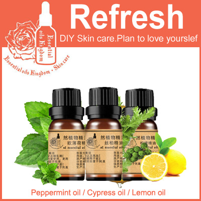 Essential Oils Kingdom, 100% Pure Plant Peppermint / Cypress / Lemon Oil 10ml For Relieve Tired Clean Pores Blackhead Remover 100% pure plant herbal medicine oils fructus cnidii herbal oil 100ml essential oils traditional chinese medicine oil