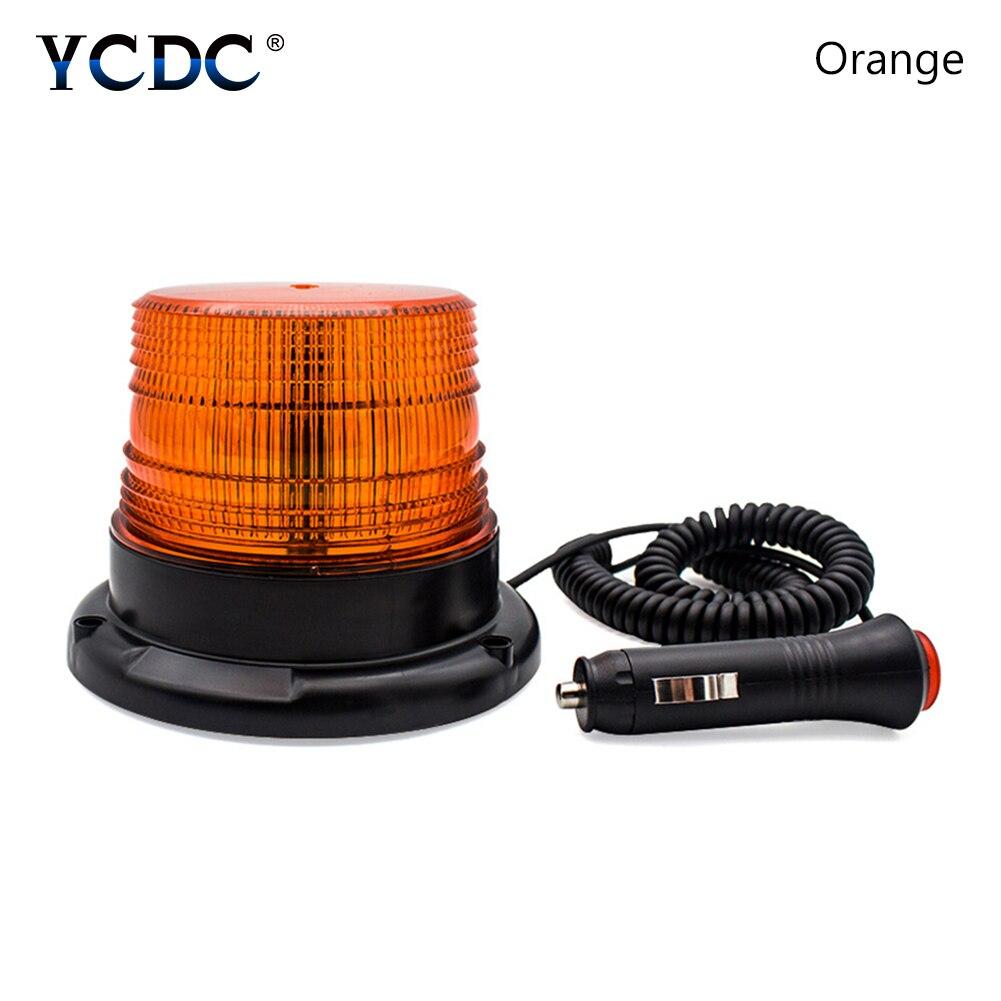 12-60 V magnético coche montado vehículo llevó la policía advertencia de luz estroboscópica iluminación del coche LED luces de emergencia faro lámpara de bombillas led