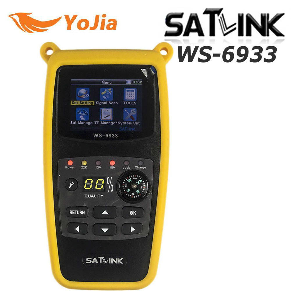 Original Satlink WS-6933 Satellite Finder DVB-S2 FTA CKU Band Satlink Digital Satellite Finder Meter WS 6933 free shipping satlink ws 6979se satellite finder meter 4 3 inch display screen dvb s s2 dvb t2 mpeg4 hd combo ws6979 with big black bag