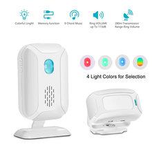 Shop Store Home Welcome Doorbell Door Chime Mailbox Alert Driveway Alarm Motion Sensor Detector Voice Reminder with Night Light