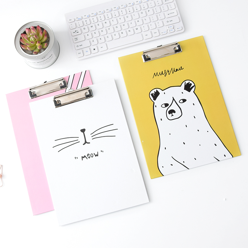 Korea Stationery A4 Vertical Writing Board Creative Office Paper File Folders Student Writing Pad Folders Random Color