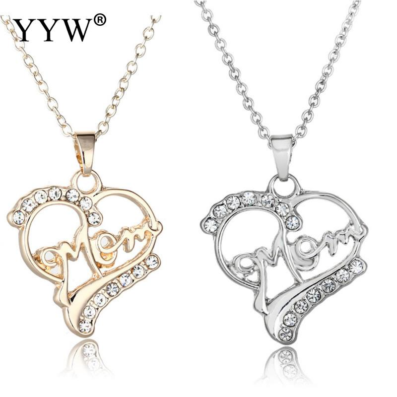 Zinc Alloy Heart Pendant Necklace Jewerly Necklace Fashion Necklace Mother Day Gifts