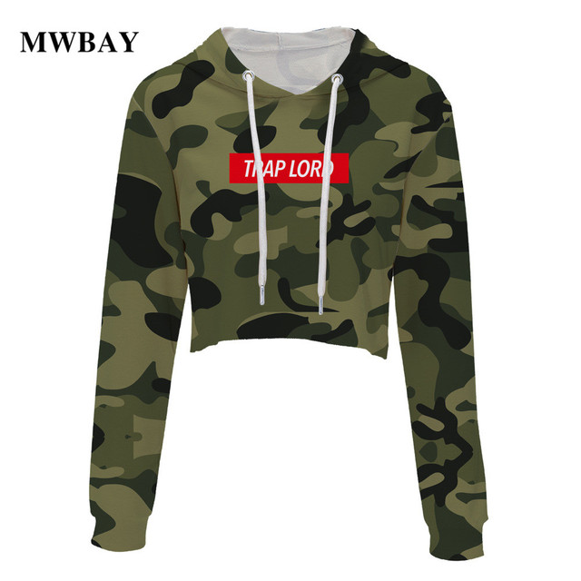 b64d05236543b Mwbay brand women hoodie long sleeved dew navel clothes blackpink  streetwear crop top green and pink