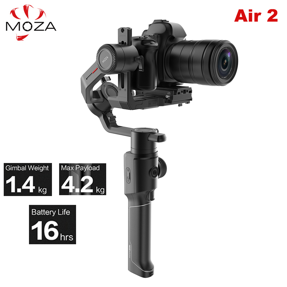 Moza Air 2 Air2 3-Axis Handheld Gimbal Stabilizer Maxload 4.2KG for Sony Canon DSLR PK DJI Ronin S Zhiyun Weebill LAB Crane 2 zhiyun crane 3 axis handheld stabilizer gimbal for dslr canon cameras support 1 2kg pk beholder ds1 ms1 dhl ems free