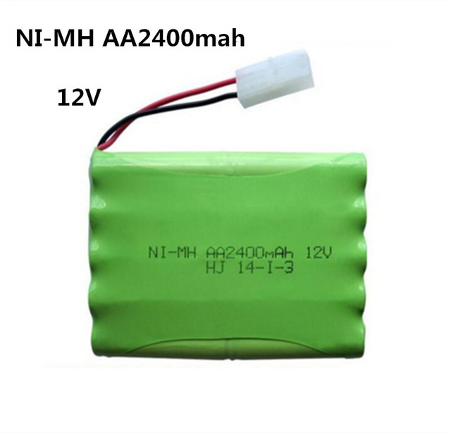 12v 2400mah ni-mh bateria 12v rc battery nimh battery pilas recargables 12v pack 10x aa size ni mh for rc car toy battery