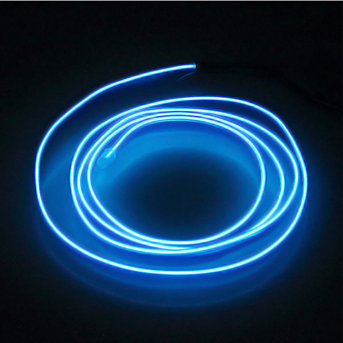 New Arrival 1m 2m 3m 5m 9mm Car decor lighter LED Lamp Strip thread sticker decals tags Flexible Neon Light EL Wire Rope