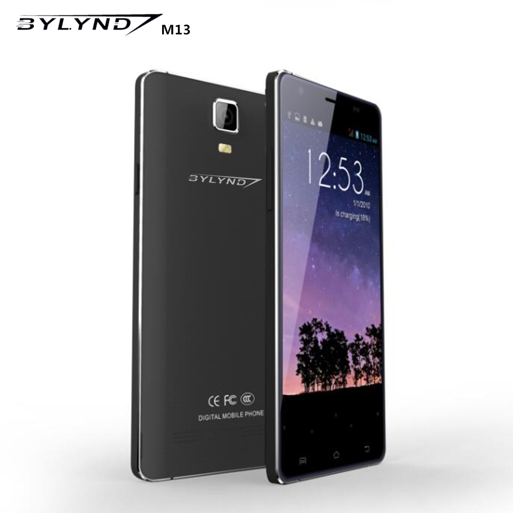 Original BYLYND M13 4G LTE mobile phones 5MP 13MP Camera Android 5 1 2GB RAM 16GB