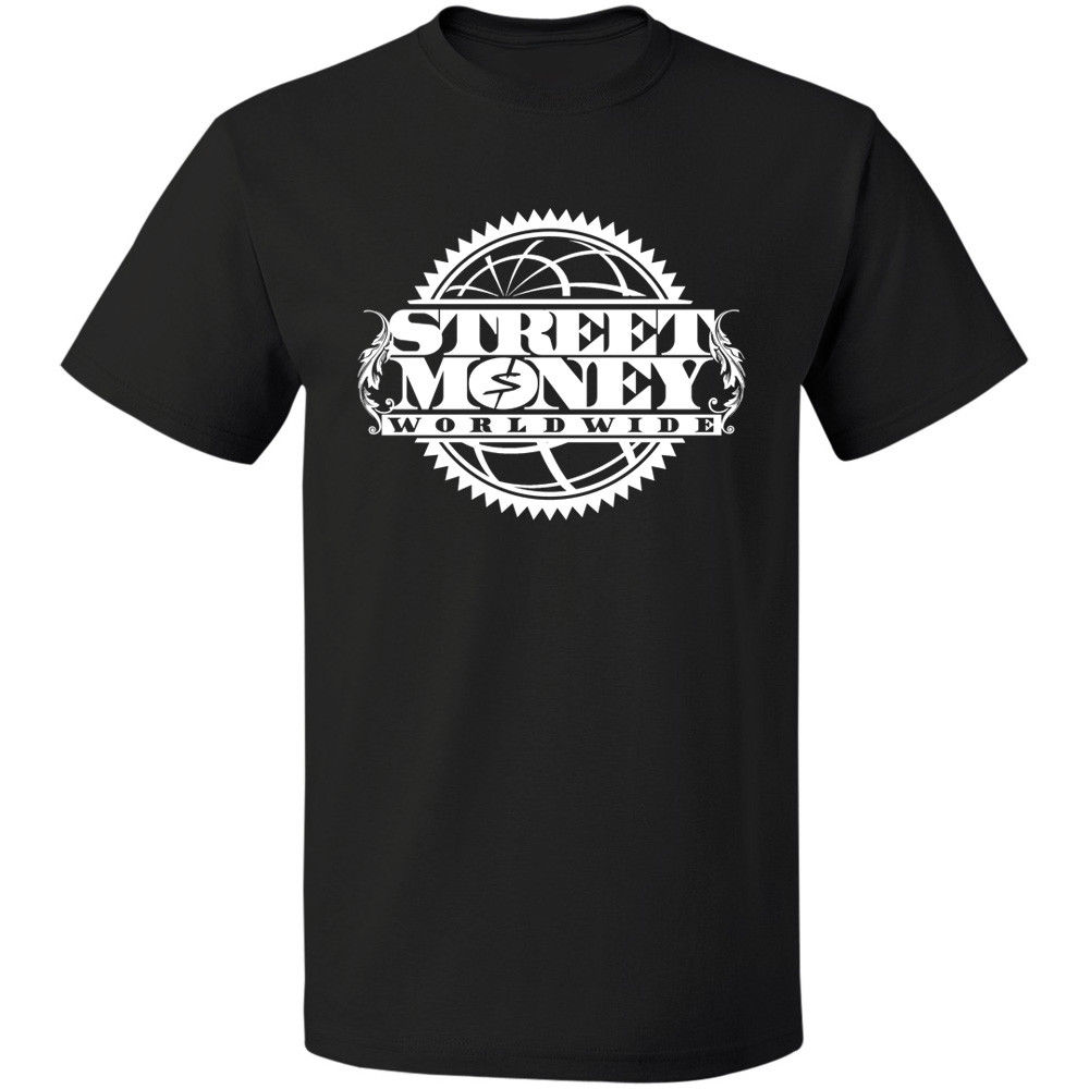 US $12 89 14% OFF|Bankroll Fresh Street Money Worldwide Trap Logo T Shirt  Size S 3XL Free Shipping Brand Cotton Men Clothing Male Slim Fit T Shirt-in