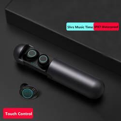 TWS Беспроводные Bluetooth 5,0 наушники IPX7 водонепроницаемые беспроводные гарнитуры для xiaomi iPhone наушники 5hrs длинные музыкальные наушники