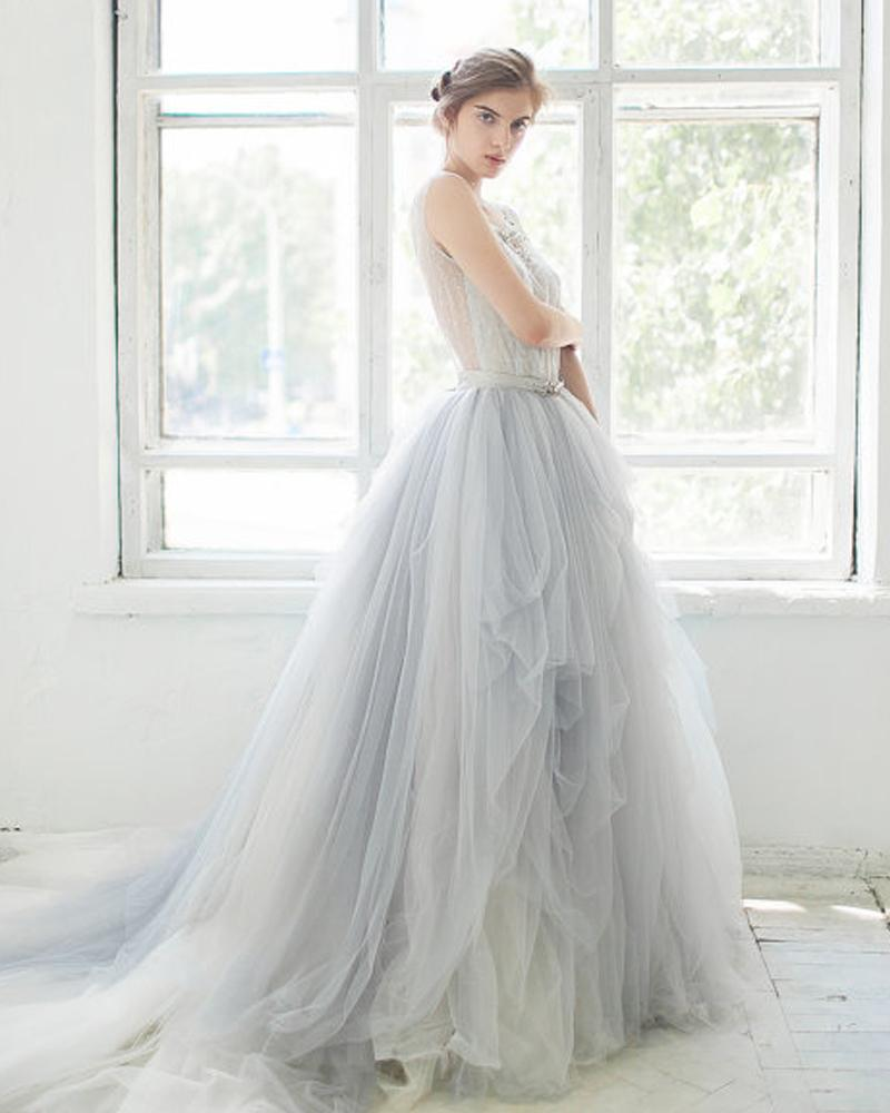 Popular Light Blue Wedding Gown-Buy Cheap Light Blue