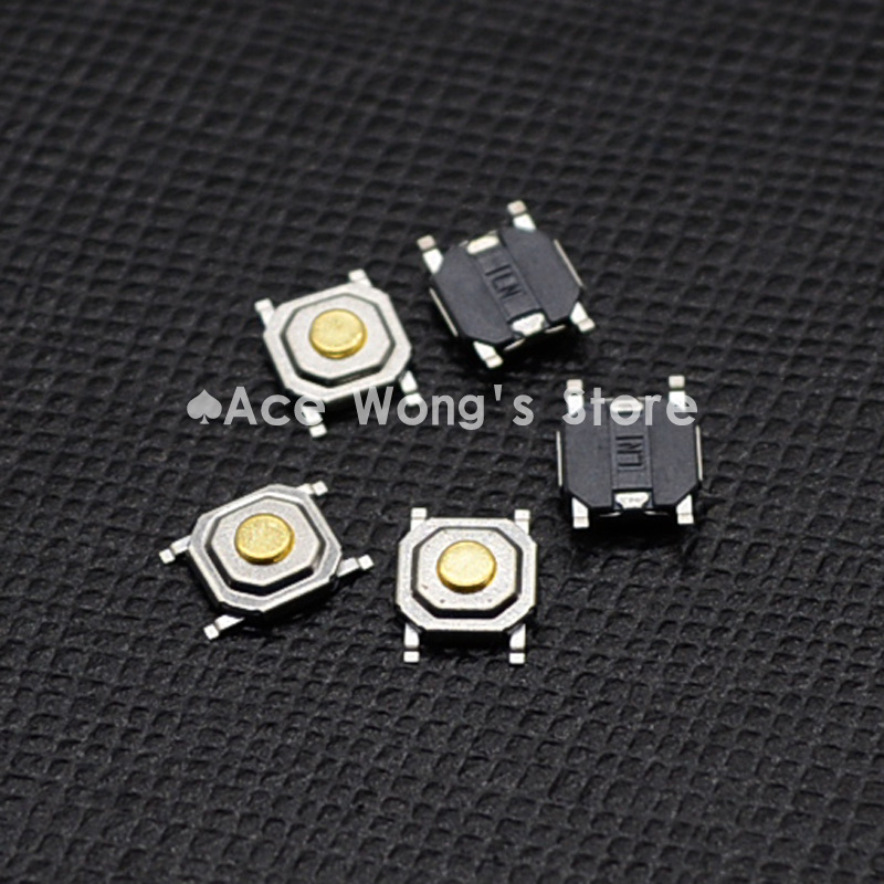 100PC/Lot SMD 4*4*1.5MM 4X4X1.5MM Tactile Tact Push Button Micro Switch Momentary 20pcs lot 8x8x5 5mm 2pin g78 conductive silicone soundless tactile tact push button micro switch self reset free shipping