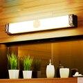 Новая китайская винтажная бронзовая пустотелая железная настенная лампа в стиле ретро для ванной комнаты  акриловое зеркало  светодиодное ...