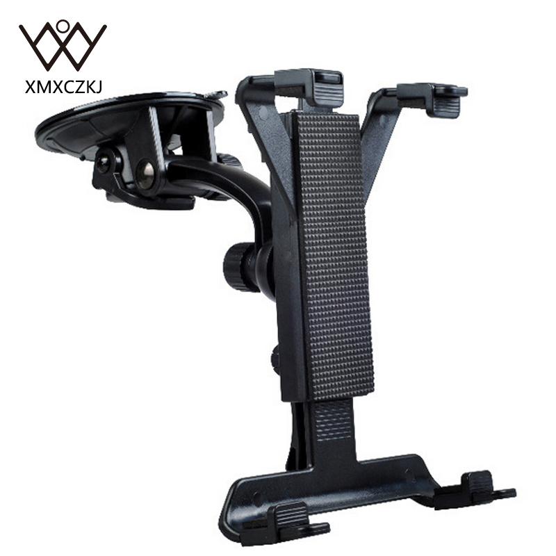XMXCZKJ Fashion Adjustable Suction Cup Car Mount Tablet Holder Cradle Bracket Stand For Samsung Tablet GPS DVD Holder
