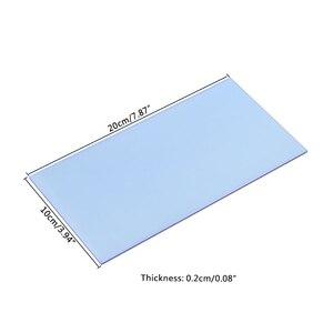 Image 4 - 1 قطعة زجاج شبكي مجلس متعدد الألوان الاكريليك ورقة الزجاج العضوي لتقوم بها بنفسك نموذج صنع المجلس 10x20cm